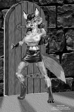 [Tabyathe standing at the  door of Fox Manor inviting you closer]